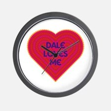 Dale Loves Me Wall Clock