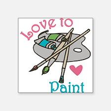 Love To Paint Sticker