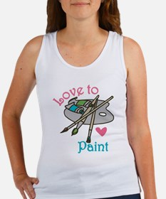 Love To Paint Tank Top