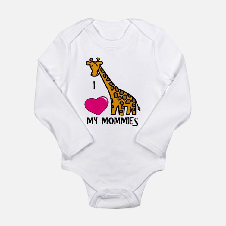 I Love My Mommies Giraffe Body Suit