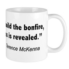Terence Mckenna bonfire quote Small Mug
