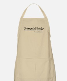 Terence Mckenna bonfire quote Apron