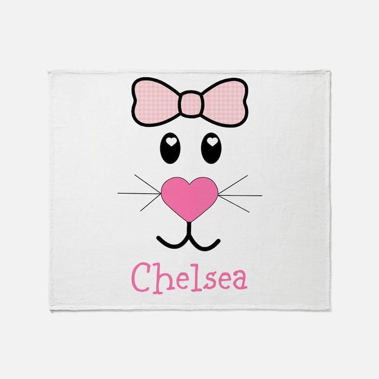 Bunny face customized Throw Blanket