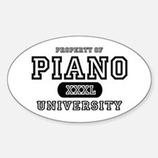 Piano University Oval Decal