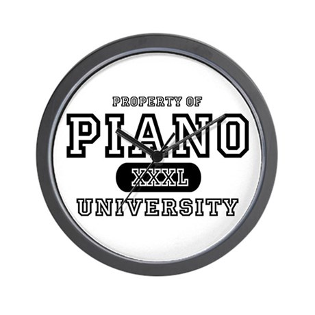 Piano University Wall Clock