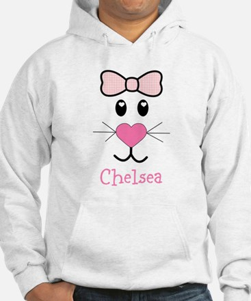 Bunny face customized Hoodie