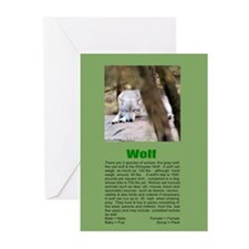 """Wolf"" Blank Greeting Cards (Pk of 10)"
