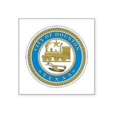 HOUSTON-CITY-SEAL 3 in Lapel Sticker (Pk of 48) St
