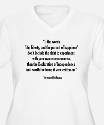 Terence McKenna Quote Plus Size T-Shirt