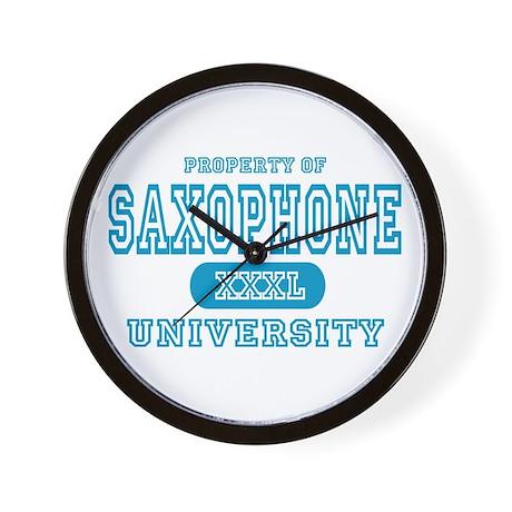 Saxophone University Wall Clock