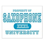 Saxophone University Small Poster
