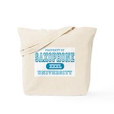 Saxophone University Tote Bag