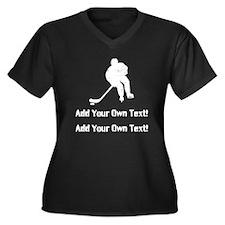 Personalize it- Hockey Plus Size T-Shirt