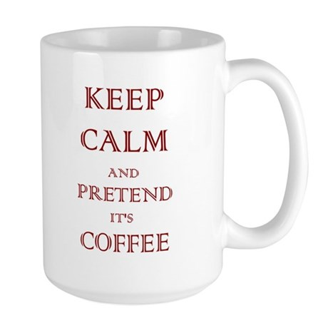Coffee - Keep Calm (Maroon) Large Mug