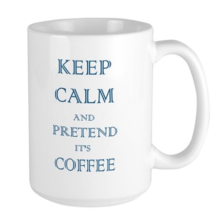 Coffee - Keep Calm (Night) Large Mug
