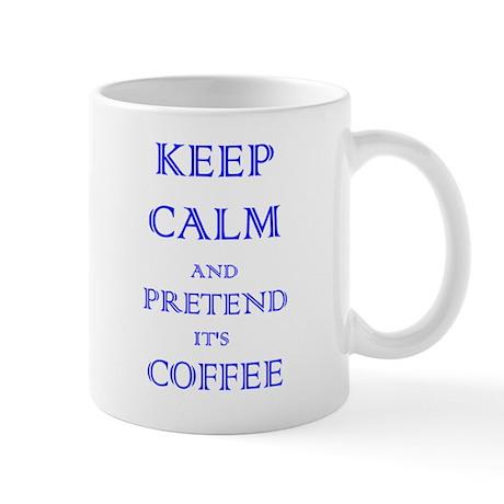 Coffee - Keep Calm (Blue) Mug