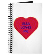 Elsa Loves Me Journal
