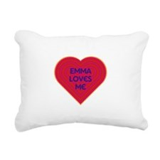 Emma Loves Me Rectangular Canvas Pillow