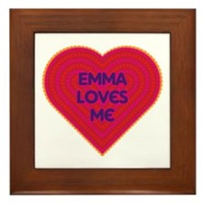 Emma Loves Me Framed Tile