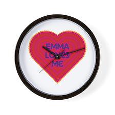 Emma Loves Me Wall Clock