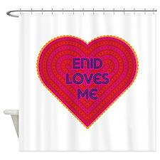 Enid Loves Me Shower Curtain