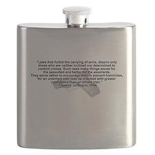 2nd Amendment-Thomas Jefferson Flask