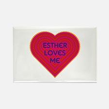 Esther Loves Me Rectangle Magnet