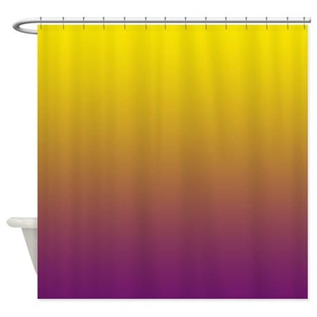 Shades Of Purple And Yellow Shower Curtain By Cheriverymery