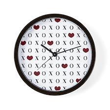 XOXO Hearts Wall Clock