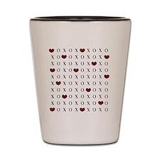 XOXO Hearts Shot Glass
