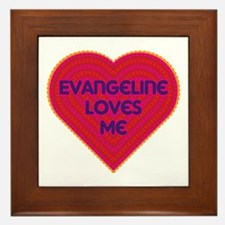 Evangeline Loves Me Framed Tile