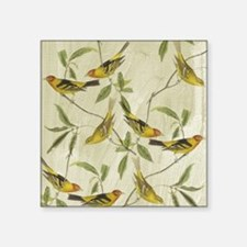 Vintage Yellow Birds Sticker