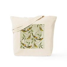 Vintage Yellow Birds Tote Bag