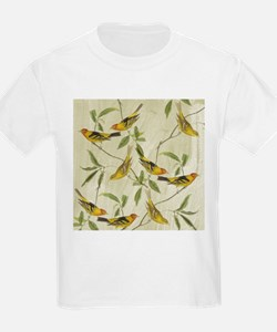 Vintage Yellow Birds T-Shirt