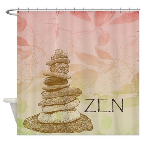 zen rocks shower curtain by be inspired by life