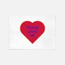 Felicia Loves Me 5'x7'Area Rug
