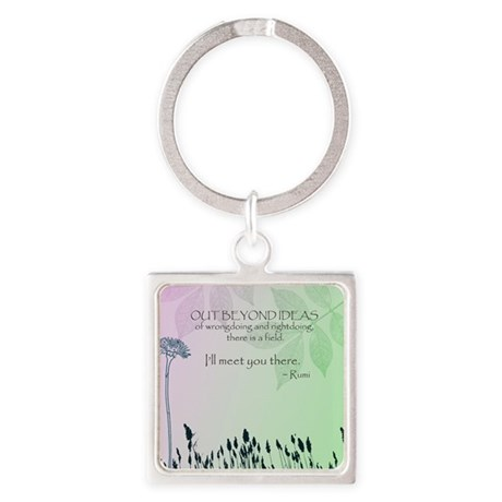 Zen Out Beyond Ideas Square Keychain
