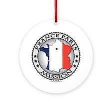 France Paris LDS Mission Flag Cutout Map 1 Ornamen