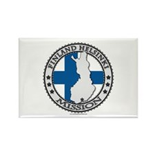 Finland Helsinki LDS Mission Flag Cutout Map 1 Rec