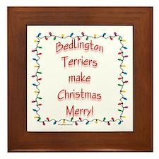 Bedlington Merry Framed Tile