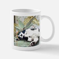 Tuxedo Cat Fairy Tile Stainless Steel Travel Mugs