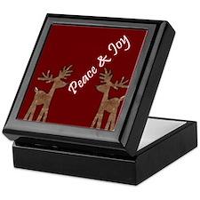 Peace and Joy Reindeer Keepsake Box