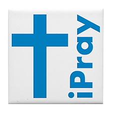 iPray Christian Tile Coaster