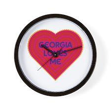 Georgia Loves Me Wall Clock