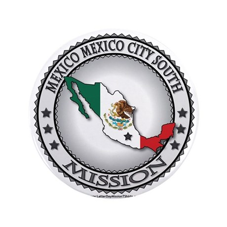 Mexico Mexico City South LDS Mission Flag Cutout 3