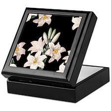 Black and White Lilies Keepsake Box