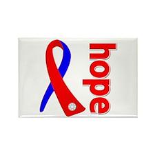 Congenital Heart Defect Hope Rectangle Magnet