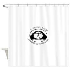 D-STRESS LIFE BLK TRIM Shower Curtain