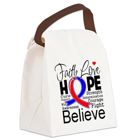 Faith Congenital Heart Defect Canvas Lunch Bag
