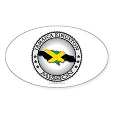 Jamaica Kingston LDS Mission Flag Cutout 1 Decal